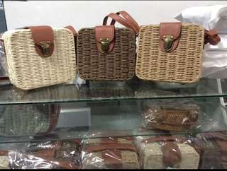 On Hand: Rattan Square Bags