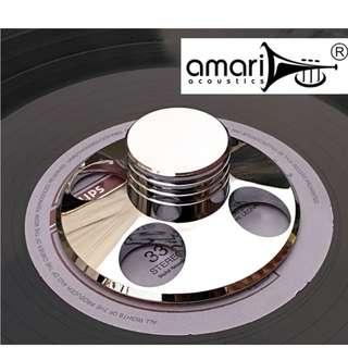 Vinyl LP Record Disc Stabilizer Clamp by Amari Acoustics