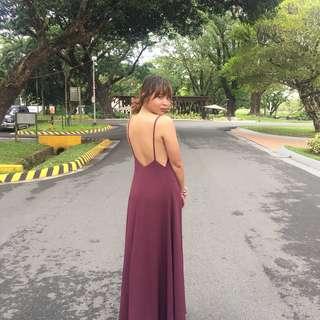 Backless long dress