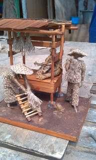 miniatur karung goni