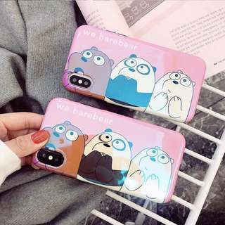 Hologram we bare bear iphone/oppo/xiaomi/vivo