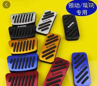 (In-Stock) Hyundai Elantra Speed Sports Brake Foot Pedal Red Gold Silver