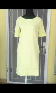 Dress soft kuning lemon