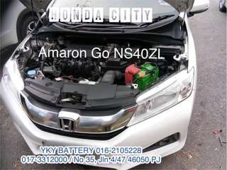 Kereta Bateri , Honda City , Amaron Go NS40ZL