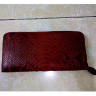 Woman's snakeskin wallet