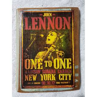John Lennon Handmade Wall-hung Wooden Artwork