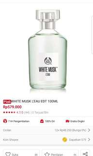 Body shop edt 100ml white musk l'eau