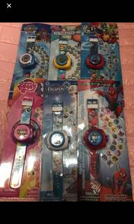 Instock now !! Kids projector watch Brand new design - hello kitty /spiderman/frozen/octonauts / pony /paw patrol/avenger brand new