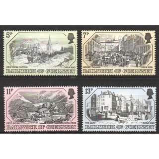 BAILIWICK OF GUERNSEY 1978 19TH CENTURY PRINTS OF GUERNSEY COMP. SET OF 4 STAMPS SC#157-160 IN MINT MNH UNUSED CONDITION