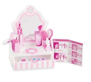 Melissa & Doug Beauty Salon Wood Play Set Toy
