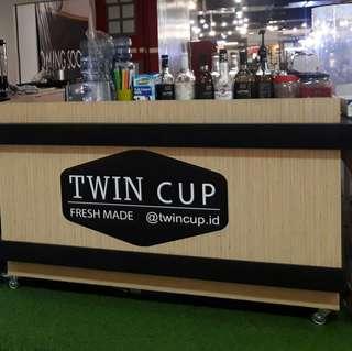 Premium booth minuman