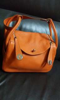 Hermes lindy 26 orange colour.stamp O and 90percent good condition.