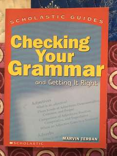 Checking Your Grammar by Marvin Tebran