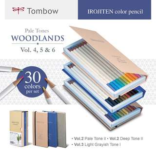 Tombow Irojiten Color Pencil Dictionary Woodlands (30pcs) CI-RT30B (Vol. 4/5/6)