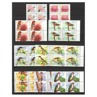 SINGAPORE 2007 FLORAL & FAUNA (LOWER VALUE) ORIGINAL PRINT 2007A BLOCK COMP. SET OF 10 STAMPS IN MINT MNH UNUSED CONDITION