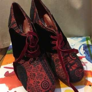 Desigual Black & red women shoes - Size 8