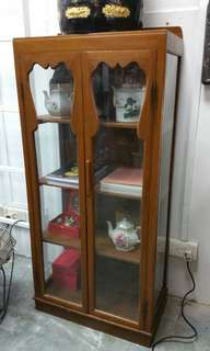 Authentic Old Solid Teak Display Cabinet