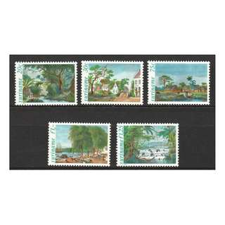 SURINAME 1981 ILLUSTRATIONS FROM VOYAGE TO SURINAME BY P.I. BENOI COMP. SET OF 5 STAMPS SC#583-587 IN MINT MNH UNUSED CONDITION