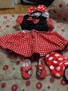 "Minimouse dress for 1""yr old bday"