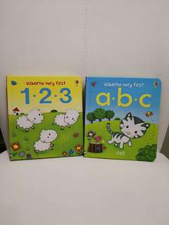 Usborne Very First ABC & 123 Books