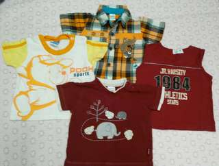 Preloved 3-6m Boys Shirts Set