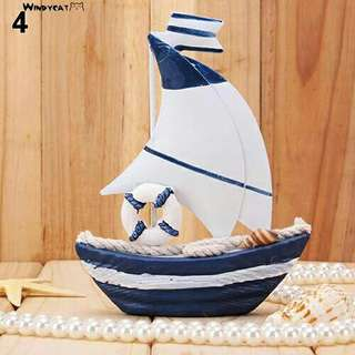 Hiasan Perahu/Kapal Laut Import Bahan Kayu Nautical untuk Dekorasi