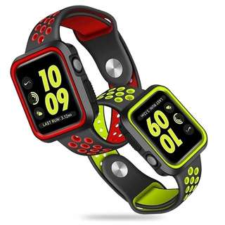 INSTOCK #JANSIN Apple Iwatch sport strap with case - Armour