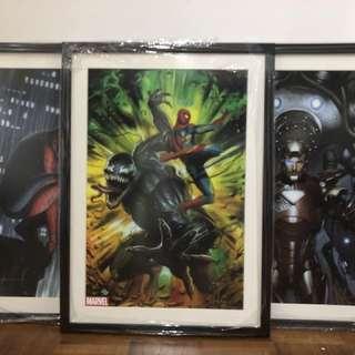Adi Granov Marvel Art Prints Signed and Framed
