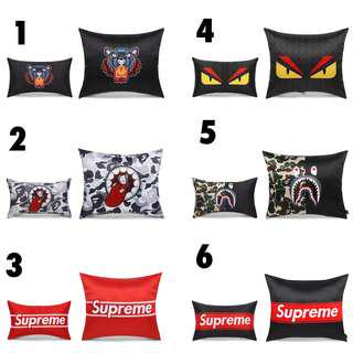 [PO]Car Headrest Pillow + Car Throw Pillow