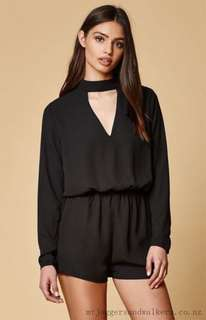 Urban Outfitters Lucca Couture Black Romper