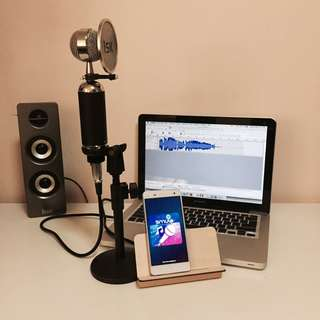 Condenser Microphone for iPhone / Android / Ipad / Laptop / PC
