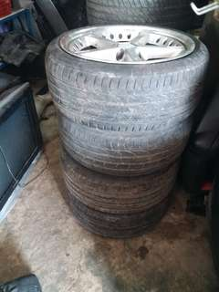 Sports rim with tyre 18 inch