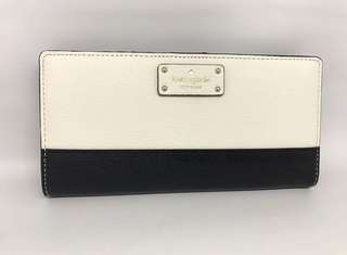 Kate Spade Large Stacy Grove Street Black Cement 19x9cm (18 card slots)