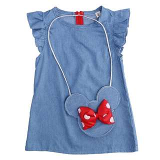 Girl Denim Dress with Bag