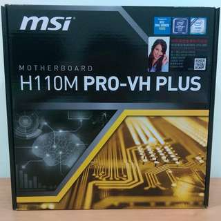 限時下殺!!【全新盒裝】MSI 微星 主機板 H110M PRO-VH PLUS 1151腳位