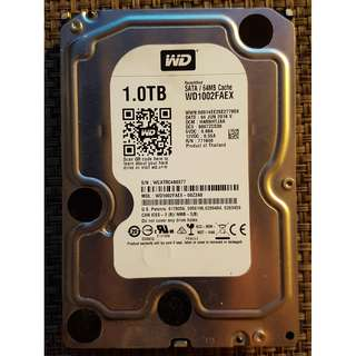 Faulty Western Digital Black WD1002FAEX 1TB 7200rpm Harddisk HDD