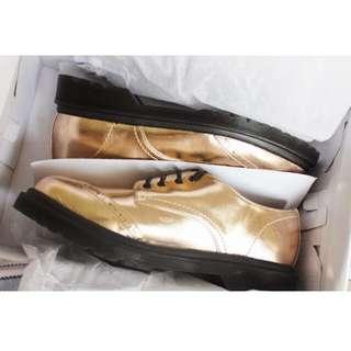 Metallic Gold Brogues