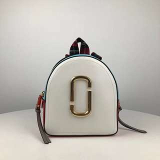 Marc Jacobs the pack shot - white x checkered blue