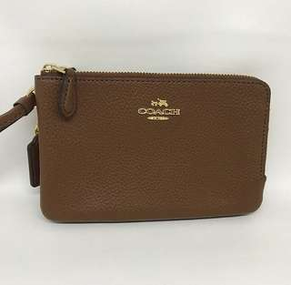 Coach Double Zip Small Wristlet sz 16x9 cm