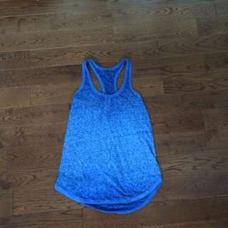 American Eagle Blue Buttoned Tank Top