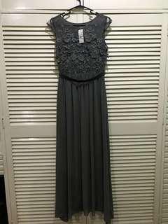 Dark Gray Long Gown (BNWT)
