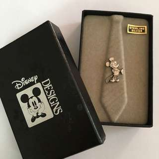 Rare Disney Mickey Mouse Sterling Silver Pin