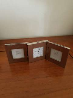 Solid stainless steel limted edition photo frame and clock