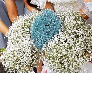 Baby's Breath bridesmaid flower bouquet (minimum purchase of 3) - only available in white