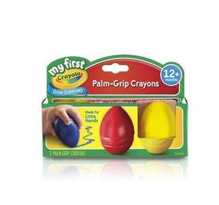 Crayola egg palm crayons