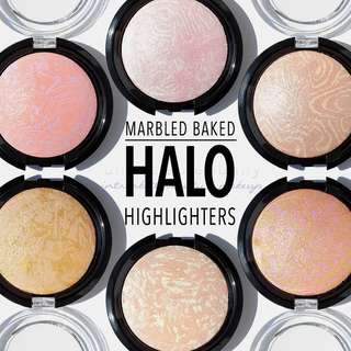 🆕HALO HIGHLIGHTERS Marbled Baked Swirled Highlite AOA Studio INSTOCK Cosmetics