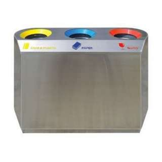 Stainless Steel Recycle Bin Flat 3 in 1