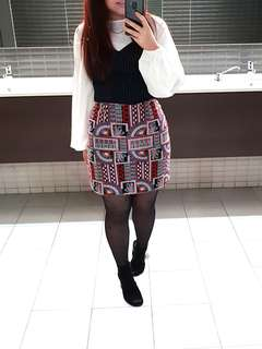 Elliotte collective patterned skirt