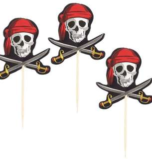 PIRATES CUPCAKE TOPPERS