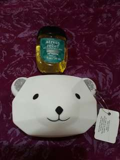 Auth Bath and Body Works Purse and Sanitizer